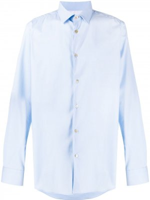 Рубашка узкого кроя с длинными рукавами Paul Smith. Цвет: синий