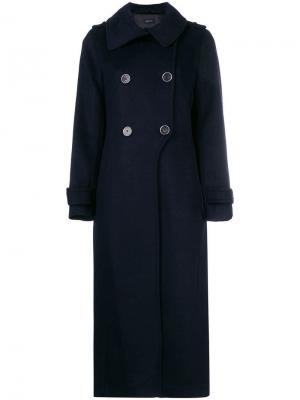 Двубортное пальто Mackage. Цвет: синий