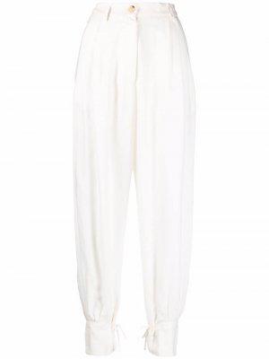 Зауженные брюки с завышенной талией Forte. Цвет: белый