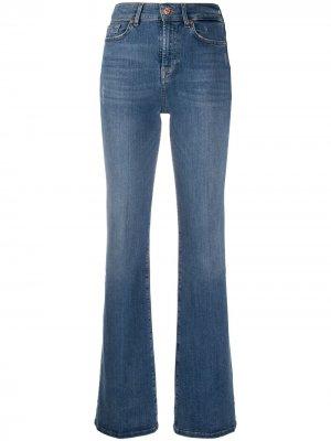 Расклешенные джинсы с завышенной талией 7 For All Mankind. Цвет: синий