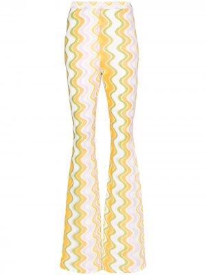 Расклешенные брюки Maddalena Taller Marmo. Цвет: белый