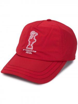 Бейсболка с вышитым логотипом North Sails. Цвет: красный