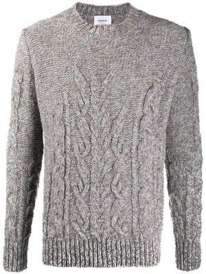 Джемпер фактурной вязки Dondup. Цвет: серый