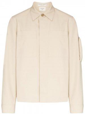 Куртка-рубашка с длинными рукавами Bottega Veneta. Цвет: нейтральные цвета