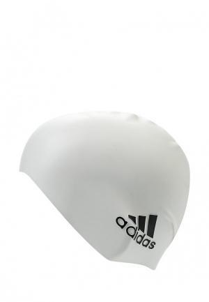 Шапочка для плавания adidas Performance. Цвет: белый