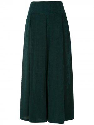Укороченные брюки с завышенной талией Alcaçuz. Цвет: зеленый