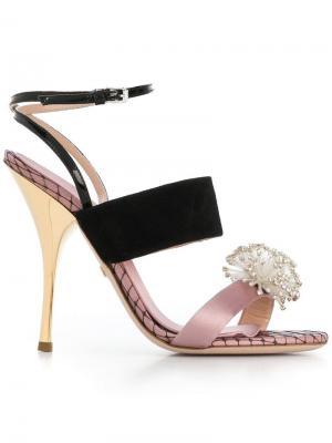 Босоножки с блестящим декором Giambattista Valli. Цвет: розовый