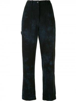 Джинсовые брюки с принтом тай-дай Raquel Allegra. Цвет: синий