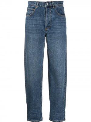Зауженные джинсы с завышенной талией BOYISH DENIM. Цвет: синий