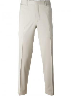 Классические брюки кроя слим Fashion Clinic Timeless. Цвет: нейтральные цвета