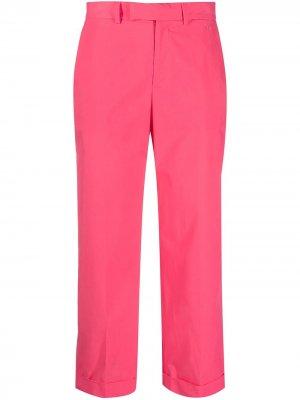 Укороченные брюки с завышенной талией TWINSET. Цвет: розовый