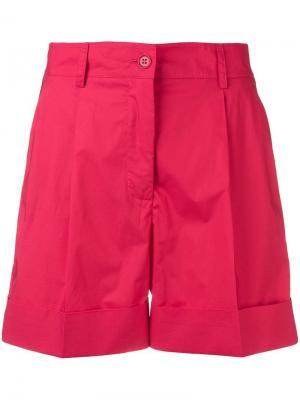 Шорты с боковыми полосками P.A.R.O.S.H.. Цвет: красный