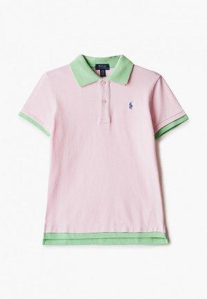 Поло Polo Ralph Lauren. Цвет: розовый
