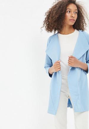 Пальто Sitlly. Цвет: голубой