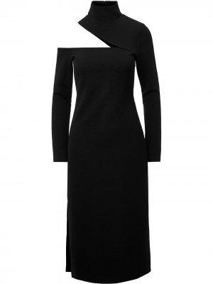 Платье миди Eleni с вырезом Nicholas. Цвет: черный