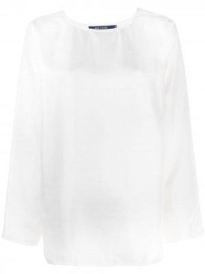 Sofie Dhoore блузка с круглым вырезом D'hoore. Цвет: белый