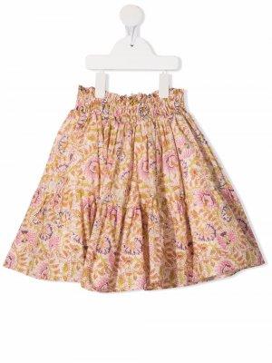 Юбка со сборками и принтом Miss Grant Kids. Цвет: нейтральные цвета
