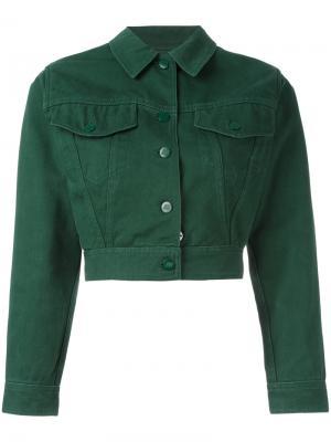 Укороченная джинсовая куртка Jean Paul Gaultier Vintage. Цвет: зеленый