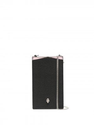 Сумка для смартфона с декором Skull Alexander McQueen. Цвет: черный