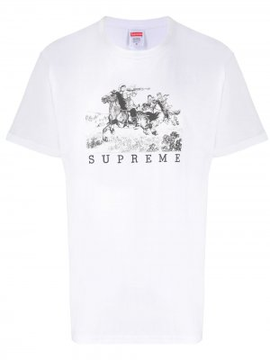 Футболка с логотипом Supreme. Цвет: белый