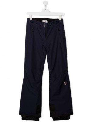 Лыжные брюки с нашивкой-логотипом Rossignol Kids. Цвет: синий