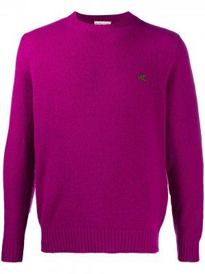 Пуловер с вышитым логотипом Etro. Цвет: фиолетовый