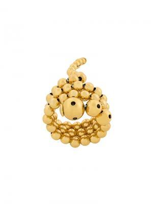 Тройное кольцо Adriane Paula Mendoza. Цвет: металлик