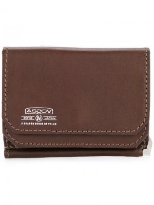 Бумажник с зажимом для купюр As2ov. Цвет: коричневый