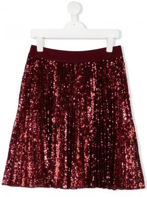 TEEN sequin embellished skirt Monnalisa. Цвет: красный
