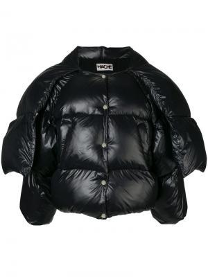 Cropped puffer jacket Hache. Цвет: черный