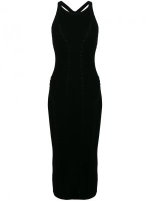 Вязаное платье длины миди Rag & Bone. Цвет: черный