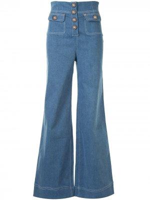 Широкие джинсы Woodstock Alice McCall. Цвет: синий