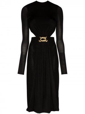 Платье миди с вырезами и открытой спиной Dodo Bar Or. Цвет: черный