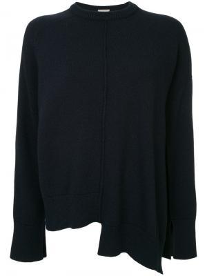 Асимметричный свитер свободного кроя MRZ. Цвет: синий