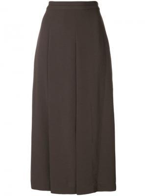Pleated panel skirts Chalayan. Цвет: коричневый