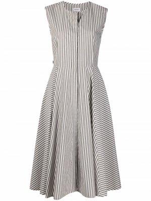 Платье в вертикальную полоску Woolrich. Цвет: зеленый