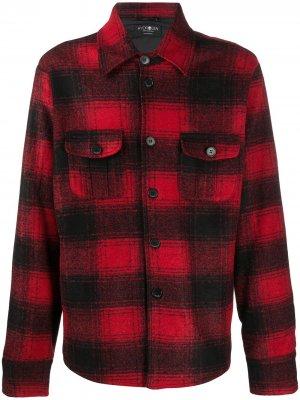 Клетчатая куртка-рубашка Hydrogen. Цвет: красный