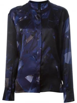Рубашка с геометрическим принтом Ilaria Nistri. Цвет: синий