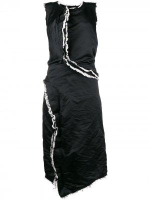 Frayed ruffled trim dress Comme Des Garçons. Цвет: черный