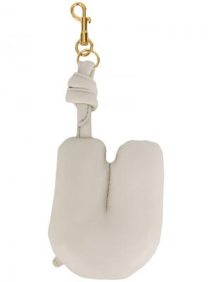 Брелок с застежкой Anya Hindmarch. Цвет: белый