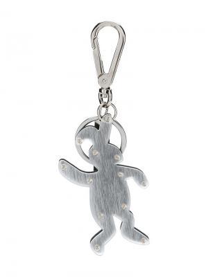 Брелок с кроликом Marni. Цвет: металлик