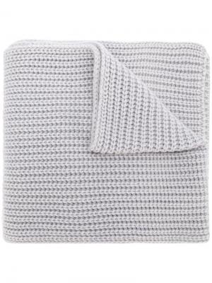 Chunky knit scarf Iris Von Arnim. Цвет: серый