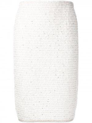 Твидовая юбка-карандаш D.Exterior. Цвет: нейтральные цвета