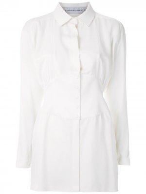 Удлиненная рубашка Gloria Coelho. Цвет: белый