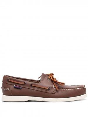 Лоферы со шнуровкой Sebago. Цвет: коричневый