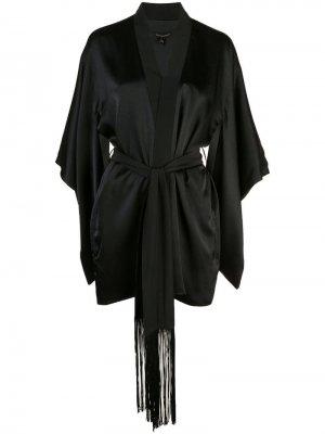 Халат-кимоно с поясом Kiki de Montparnasse. Цвет: черный