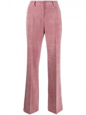 Костюмные брюки со складками Hebe Studio. Цвет: розовый