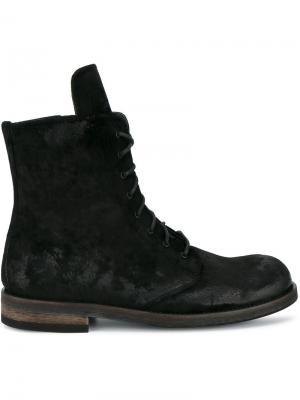 Ботинки на шнуровке Ann Demeulemeester. Цвет: черный