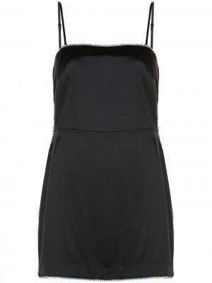 Платье мини с декором Michelle Mason. Цвет: черный