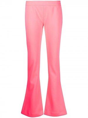 Расклешенные брюки с заниженной талией Balmain. Цвет: розовый